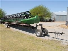 2010 John Deere 635D Draper Header W/Transport
