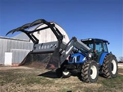 2006 New Holland TL100A MFWD Tractor With Quicke Q55 Grapple Loader