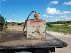 110 Gal Portable Fuel Tank W/Electric Pump