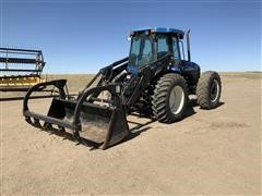 2010 New Holland TV6070 Bi-Directional 4WD Tractor W/84L Grapple Loader