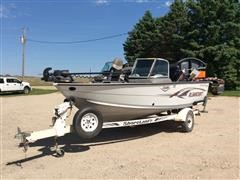 2007 Alumacraft Trophy 175 Boat & Shoreland'R Trailer