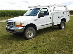 1999 Ford F250 Super Duty 4x4 Utility Truck