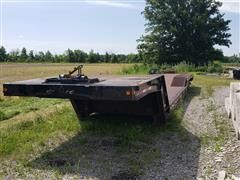 1991 Trail King T/A Double Drop Trailer w/ Hydraulic Dove Tail