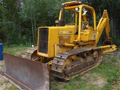 1989 John Deere 450 E 6 Way Dozer w/ Backhoe Attachment