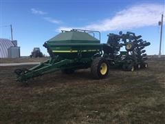 1997 John Deere 1850 Air Seeder W/787 Commodity Cart