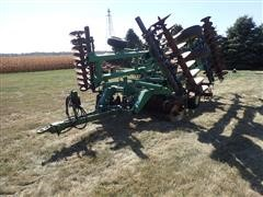 "2001 John Deere 637 23' 7"" Disk W/3 Bar Harrow"