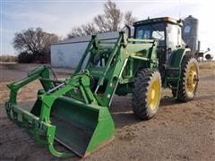 1998 John Deere 7810 MFWD Tractor W/Loader