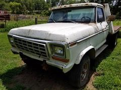 1977 Ford F250 4x4 Flatbed Truck
