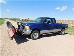 1999 Ford F250 Super Duty 4x4 Extended Cab Pickup W/Snowplow