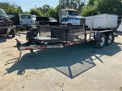 2015 Felling T/A Flatbed Trailer W/Aluminum Ramps