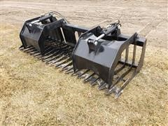 "2019 Brute 84"" Wide Brush/Root Grapple Bucket Skid Steer Attachment"
