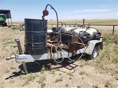 S/A Flatbed Trailer W/Sage Oil Vac