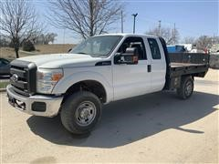 2012 Ford F250 Super Duty 4x4 Extended Cab Flatbed Pickup