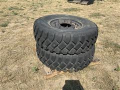 Goodyear 14.00-20 Tires W/10 Lug Wheels