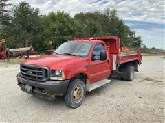 2002 Ford F450 XL SuperDuty 4x4 Truck W/Dump Bed