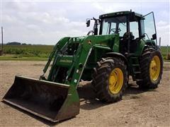 1996 John Deere 7800 MFWD Tractor W/John Deere 740 Loader