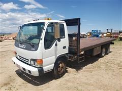 2000 Isuzu NPR COE S/A Flatbed Truck