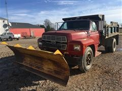 1990 Ford 600 Dump Truck W/Blade