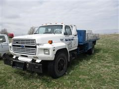 1994 Ford F-800 Super Cab Flatbed Truck