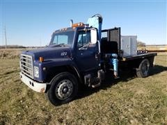 1989 International 1955 Knuckle Boom Truck