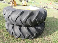 Goodyear 18.4-38 Axle Mount Duals W/Hubs