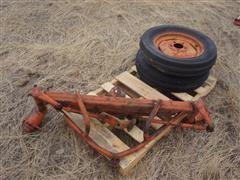 Allis-Chalmers Wide Front Axle & (2) 5.5-16 Tires On Rims
