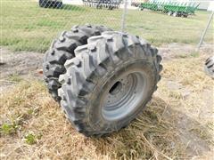 Galaxy 15-19.5 Tires On Case Rims
