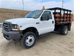 2002 Ford F450 Standard Cab Stake Body W/Powered Liftgate