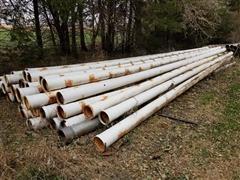 """8"""" X 30' Gated Plastic/Aluminum Irrigation Pipe"""