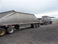 1997 Beall BABDS-31-1 Tri/A Bottom Dump Trailer With T/A Pup & Dolly