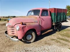 1951 Chevrolet 3600 Flatbed Truck W/Sides