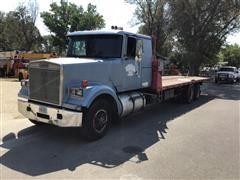 1984 White WIM64T T/A Rollback Truck W/Winch