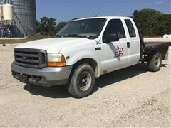 2000 Ford F250 2WD Extended Cab Flatbed Pickup