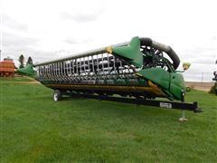 2007 John Deere 630F Hydraflex Flex Header W/Trailer