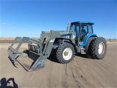 1995 Ford New Holland 8870 MFWD Tractor With Quicke Loader