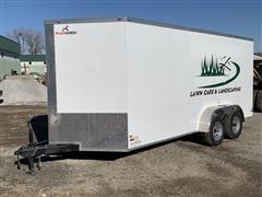 2019 Peach Cargo PC716TA2 7' X 16' T/A Enclosed Cargo Trailer