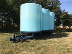 2012 Skiles Portable Bulk Fertilizer Tanks On Trailer