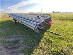 """6"""" Aluminum Irrigation Pipe w/ Trailer"""