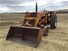 1968 International Farmall 756 2WD Tractor W/Loader