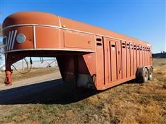 1990 Keifer Built Stock Master Elite Livestock Trailer