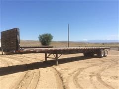 1987 Aztec Flatbed T/A Trailer