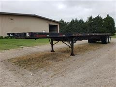 1983 Aztec T/A Extendable Flatbed Trailer