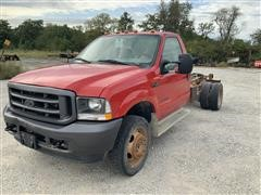 2002 Ford F450 XL SuperDuty 4x4 Cab & Chassis