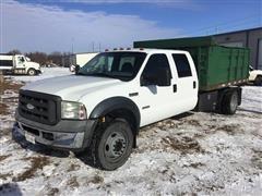2006 Ford F450 Super Duty Crew Cab Power Stroke Diesel Dump Truck