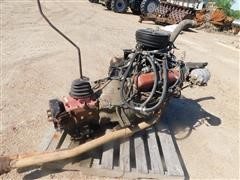 International 345 V-8 Gas Engine & Transmission