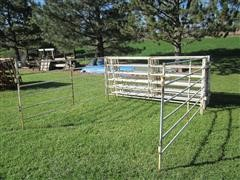 "Wedeking MFG 10' X 5' High 1 1/8 "" Pipe Fence Panels"