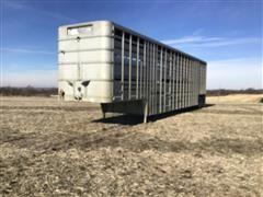 1977 Wilson ADCL 800 T/A Pot Livestock Trailer