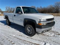2001 Chevrolet 2500 HD Silverado 4x4 Regular Cab Long Box Pickup