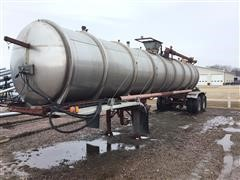 1982 Trailmobile T/A Stainless Steel Manure Tanker Trailer