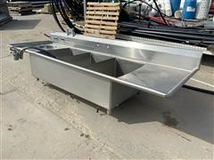 Universal 3-Compartment Stainless Steel Sink